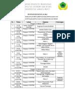 Contoh Jadwal Acara Kegiatan Makrab