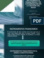 INSTRUMENTOS FINANCIEROS Y DE CONSERVACION EN LA GESTION DEL AGUA.pptx