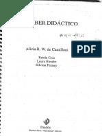 """01. Basabe, Laura y Estela Cols (2007). """"La Enseñanza"""", En Alicia Camilloni (Coord.), El Saber Didáctico, Argentina, Paidós, Pp. 125-161 (1)"""