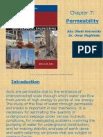 Ch 7 Permeability