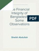 The Financial Integrity of Bangladesh