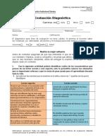 Evaluación diagnóstica Comunicacion