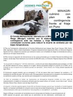 MINAGRI Culminó Con Plan de Contingencia Frente Al Friaje en Puno