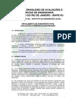 1. IBAPE RJ Regulamento Honorários 2017