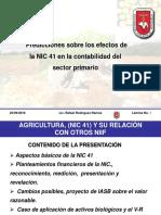Prespectivas Contables de La Nic 41 Rafael Rodriguez