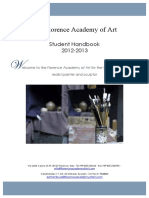 The Florence Academy of Art Student Handbook