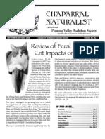 September-October 2006 Chaparral Naturalist - Pomona Valley Audubon Society