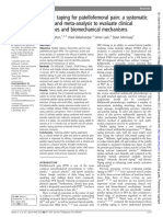 Patellar Taping for Patellofemoral Pain - A Systematic Review and Meta-Analysis to Evaluate Clinical Outcomes and Biomechanical Mechanisms
