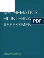 IB Mathematics HL Internal Assessment