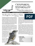 September-October 2007 Chaparral Naturalist - Pomona Valley Audubon Society