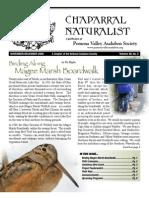 November-December 2008 Chaparral Naturalist - Pomona Valley Audubon Society