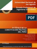 4to titulo de la constitucion de 1993