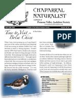 May-June 2009 Chaparral Naturalist - Pomona Valley Audubon Society