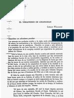 Williams El Urbanismo de Chanchan