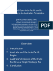 Thayer Free and Open Indo-Pacific and Its Implications an Australian Perspective Power Point Slides