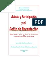 Autoria y participación y el delito de receptación