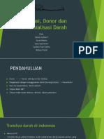 Transfusi, Donor Dan Komersialisasi Darah