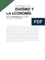 El Judaísmo y La Economía