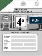 SIMULACRO MATEMÁTICA 4TO