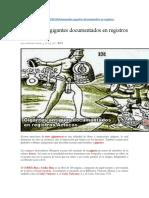 Humanoides Gigantes Documentados en Registros Aztecas