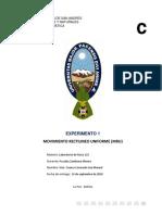 Movimiento Rectilineo Uniforme (MRU)