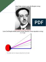 1929 Alfred Nobel Prize Winner Louis de Broglie Wrong