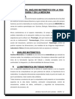 Aplicación Del Análisis Matemático en La Vida Diaria y en La Medicina
