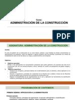 Administración en La Construcción