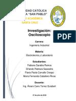 Investigación Osciloscopio