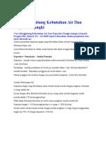 Cara Menghitung Kebutuhan Air Dan Kapasitas Tangki.docx