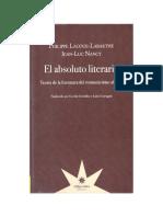 Nancy - Labarthe, El Absoluto Literario - Prólogo