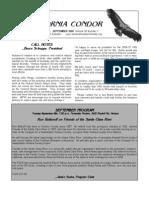 September 2009 California Condor Newsletter - Ventura Audubon Society