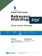 Rekayasa Hidrologi 1