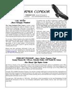 February 2010 California Condor Newsletter - Ventura Audubon Society