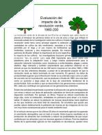 Ensayo Sobre Assessing the Impact Off the Green Revolution