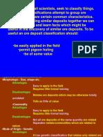 Classification of Ore Deposit