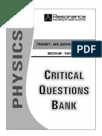 Critical Question Bank PHYSICS (English)
