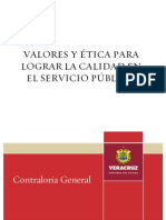 Manual Valores y Etica Para Lograr La Calidad en El Servicio Publico 2008
