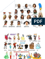 U9 Vocabulary Physical Appearance Pictures