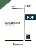 Covenin 1377-1979 Sist. Auto. Deteccion, Componentes.pdf
