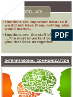 Role of Emotions in Inter Personal Communication