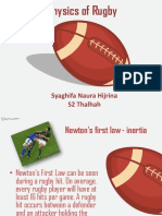 Newton's Law in Rugby
