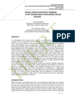 EXPERIMENTAL INVESTIGATION OF THERMAL PERFORMANCE OF CURTAIN-WALL-INTEGRATED SOLAR HEATER