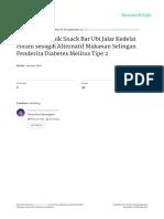 (Avianty&Ayuningwarno 2014) Indeks Glikemik Snack Bar Ubi Jalar Kedelai Hitam Sebagai Alternatif Makanan Selingan Penderita Diabetes Melitus Tipe 2
