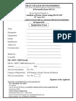 Application Form Matlab