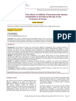 Evaluation of Beneficial Effects of Addition of Intramuscular Human