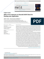 Effect of UV exposure on bimodal HDPE floats forfloating solar application