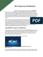 Agen IBCBet Terpercaya Di Indonesia