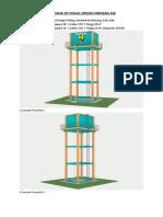 Rencana 3d Visual Design Menara Air Desa Sei Golang