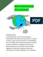 Problemas Ecologicos Globales y Locales